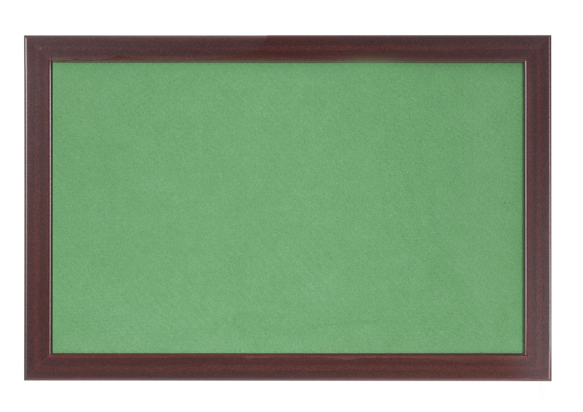 Felt Bi-Office Earth-It Green Felt Noticeboard Cherry Wood Frame 600x900mm