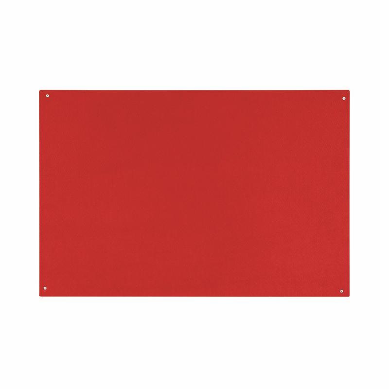 Felt Bi-Office Red Felt Noticeboard Unframed 900x600mm