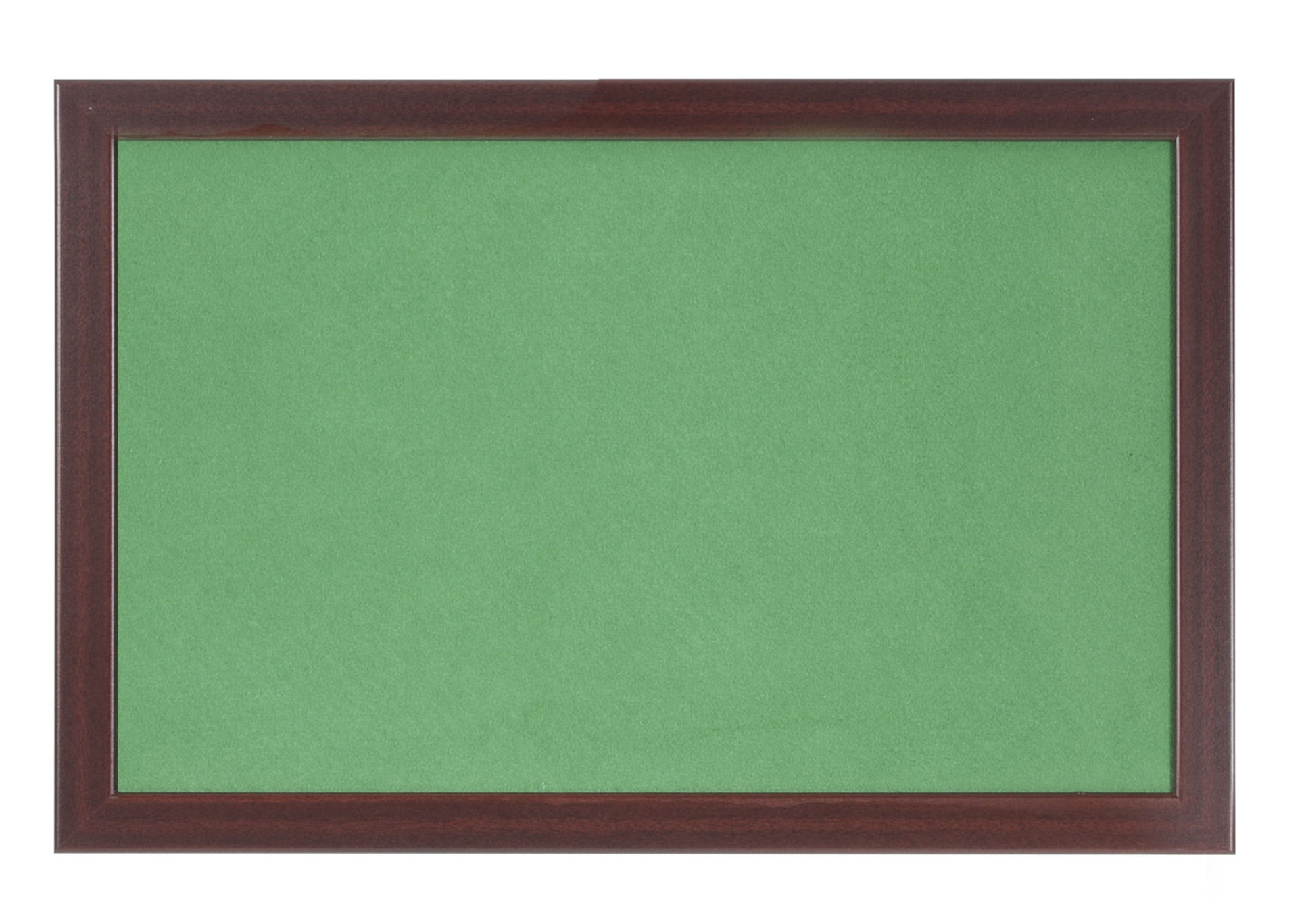 Felt Bi-Office Earth-It Green Felt Noticeboard Cherry Wood Frame 1200x900mm