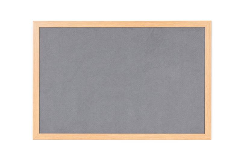 Felt Bi-Office Earth-It Grey Felt Noticeboard Oak Wood Frame 1800x1200mm