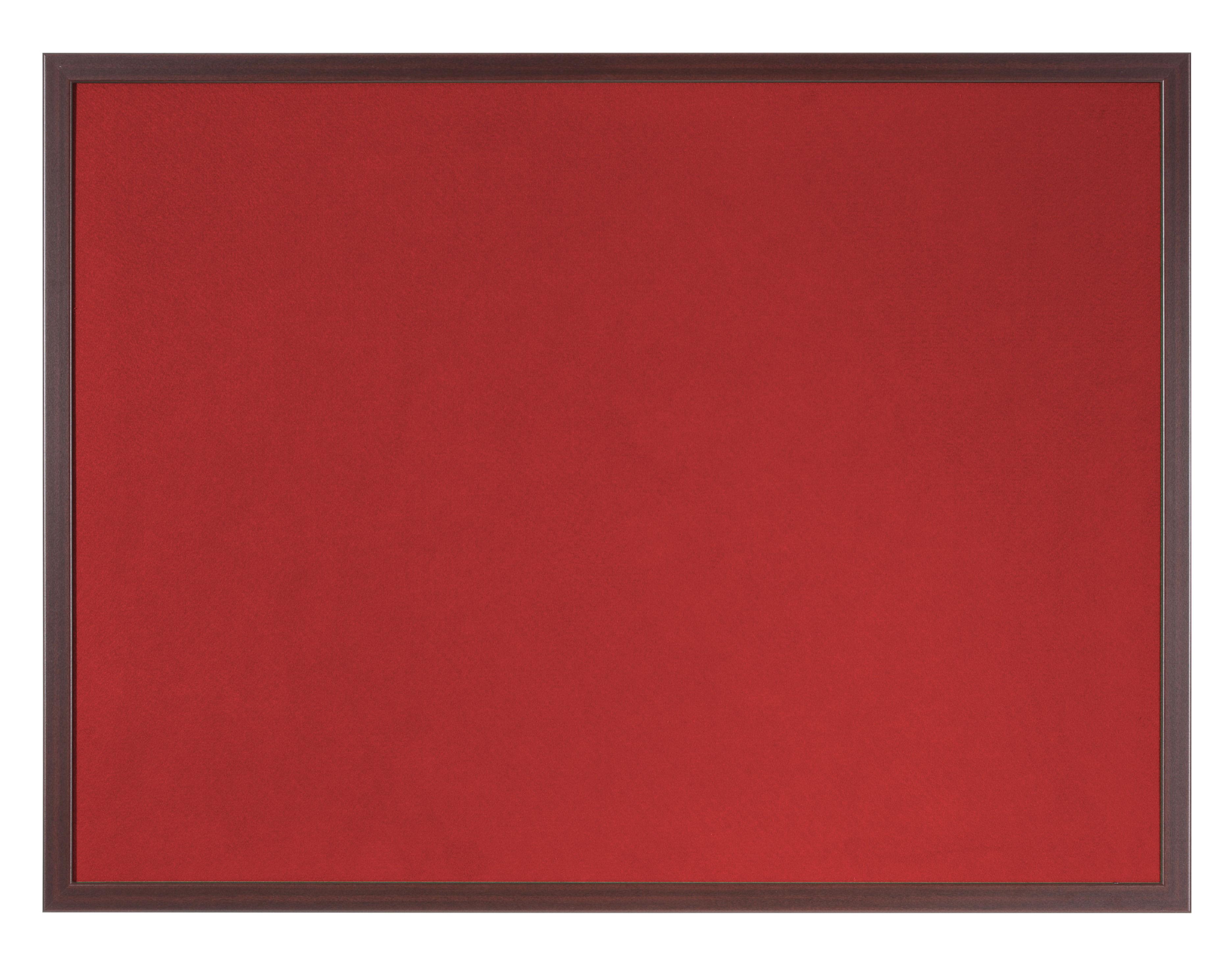 Felt Bi-Office Earth-It Red Felt Noticeboard Cherry Wood Frame 1800x1200mm