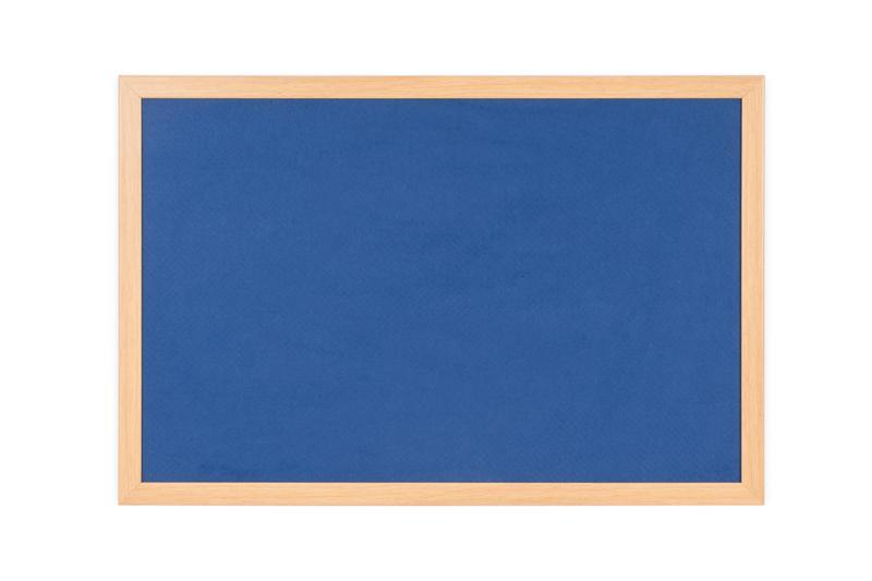 Felt Bi-Office Earth-It Blue Felt Noticeboard Oak Wood Frame 2400x1200mm