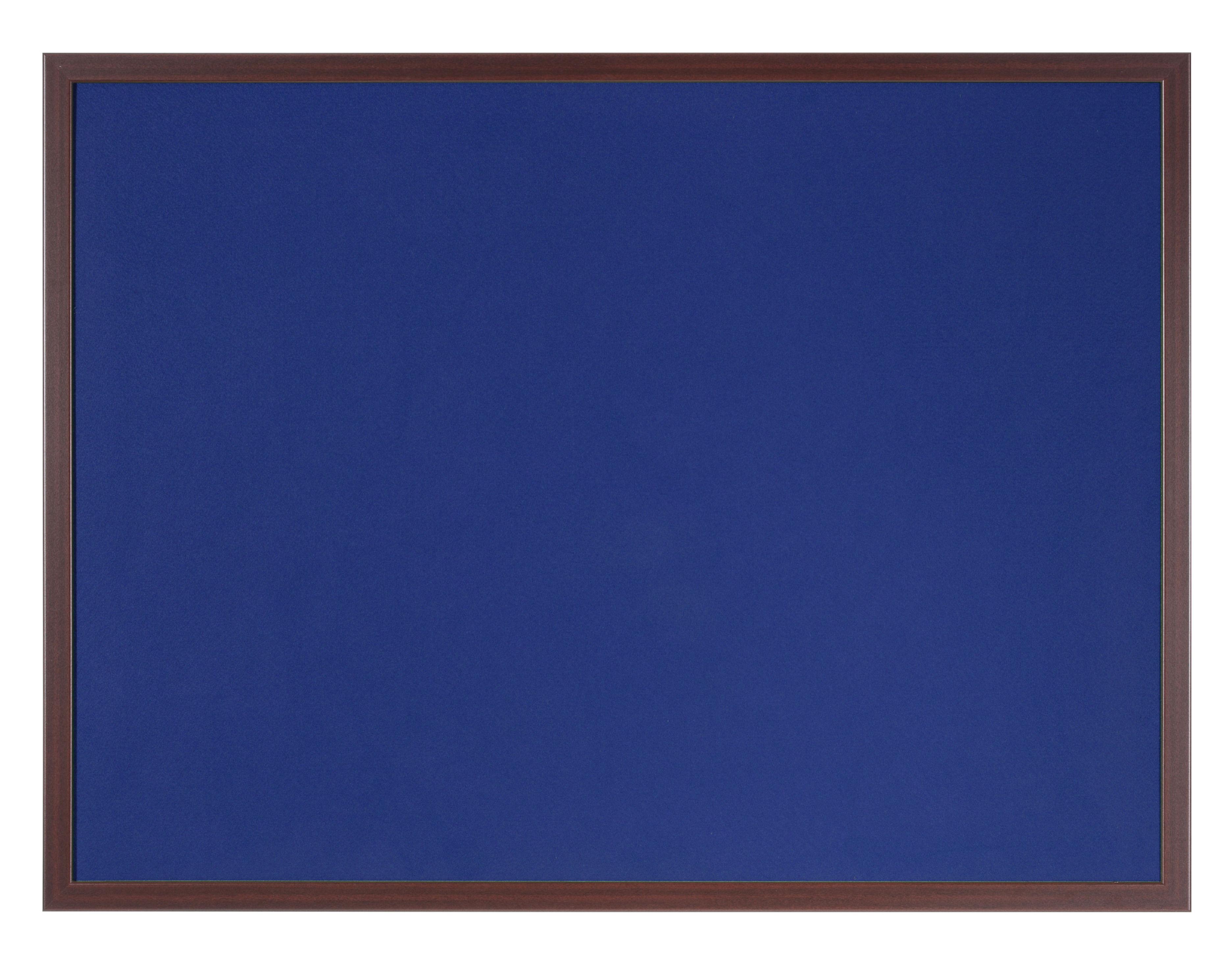 Felt Bi-Office Earth-It Blue felt 240x120cm Cherry Wood 32 mm