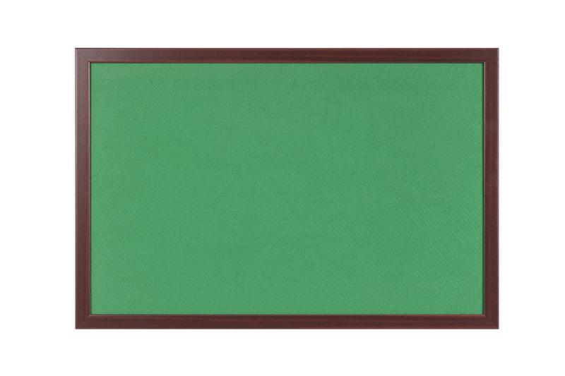 Felt Bi-Office Earth-It Green Felt Noticeboard Cherry Wood Frame 2400x1200mm
