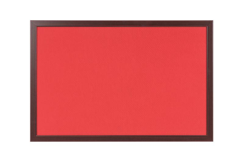 Felt Bi-Office Earth-It Red Felt Noticeboard Cherry Wood Frame 2400x1200mm