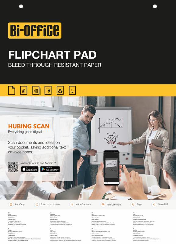 Pads Bi-Office Flipchart Pad Plain A1 40 Sheets (Pack 5)