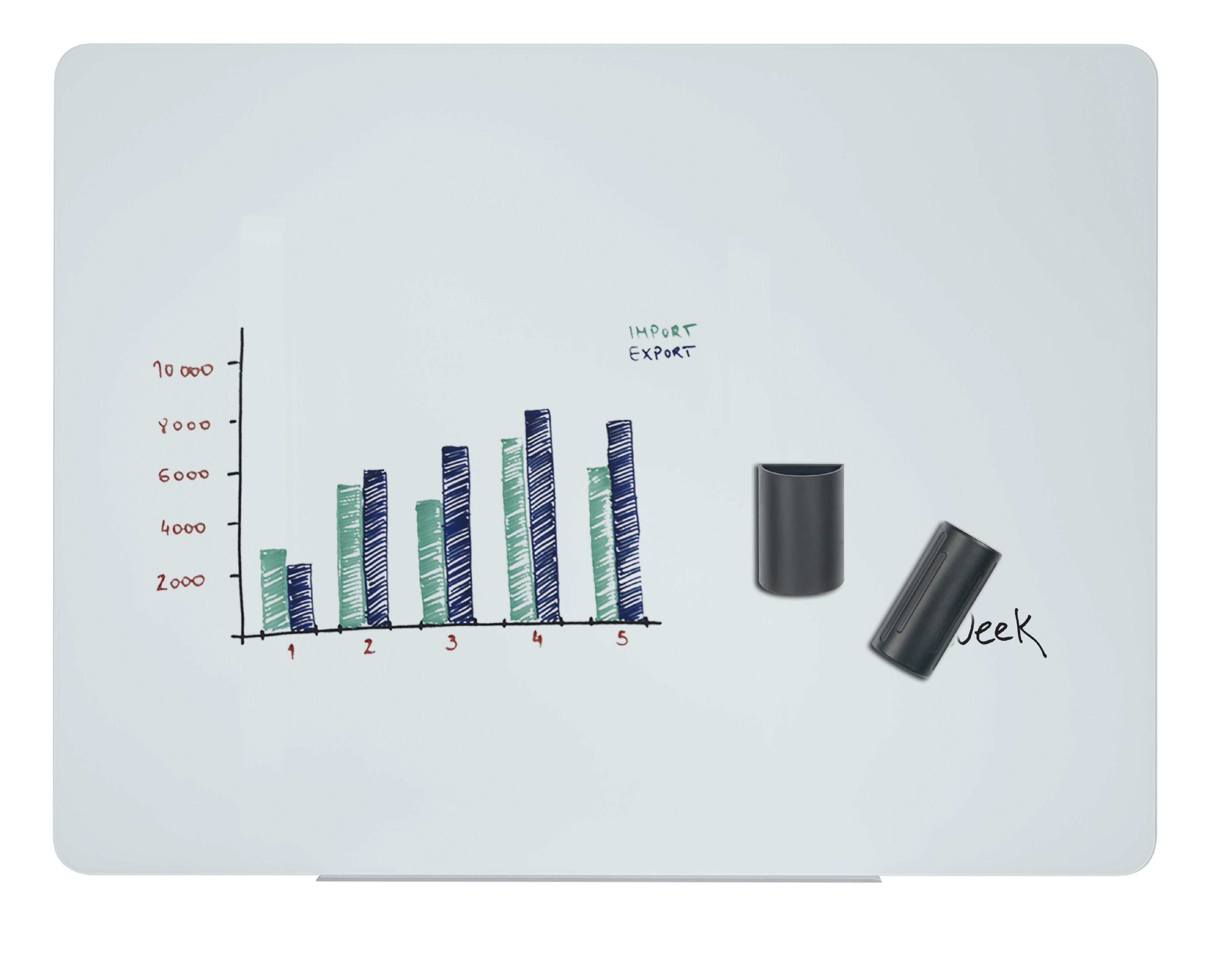 Magnetic Bi-Office Magnetic Glass Whiteboard 1500x1200mm White
