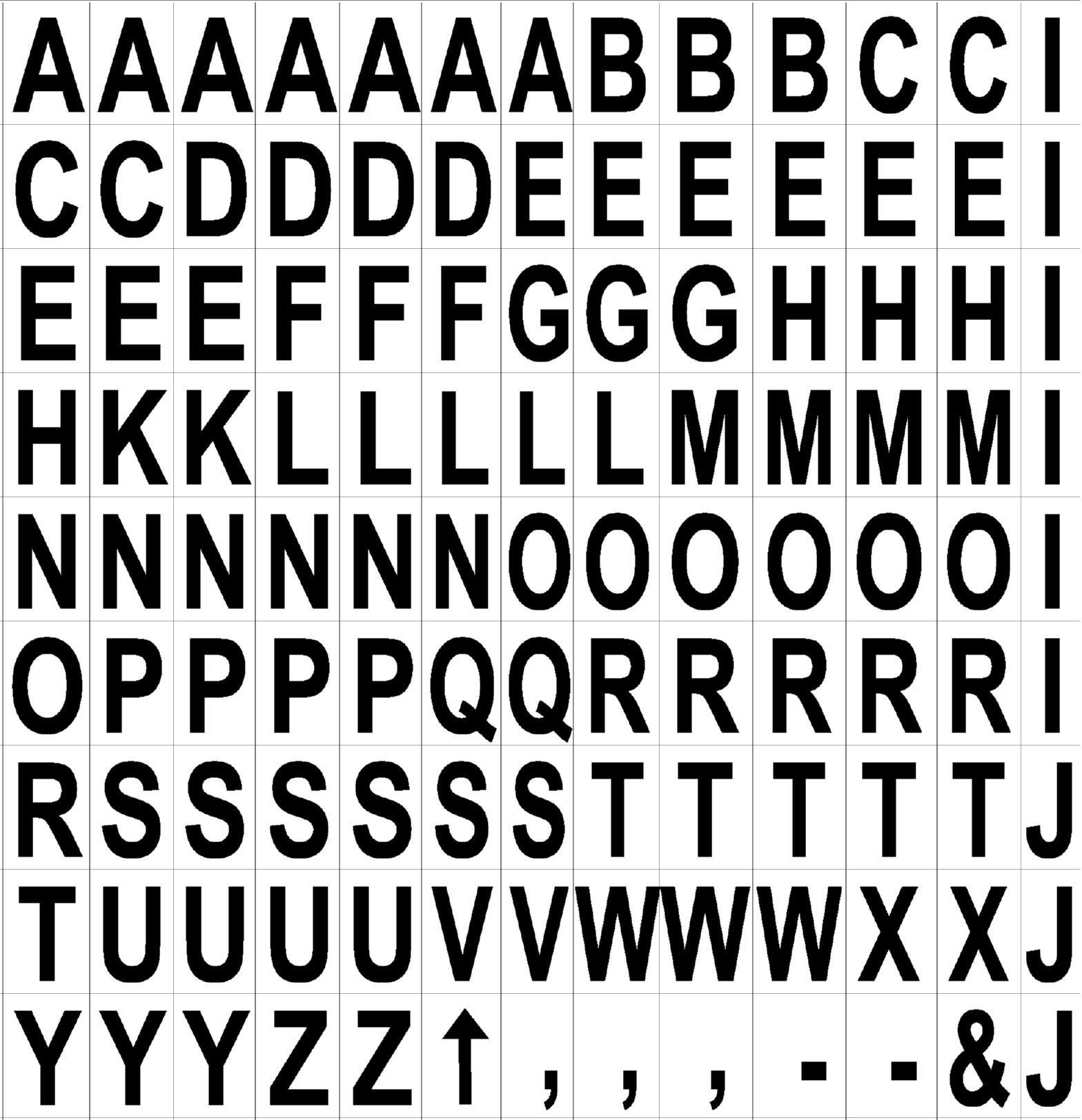 Bi Office Magnetic Letters