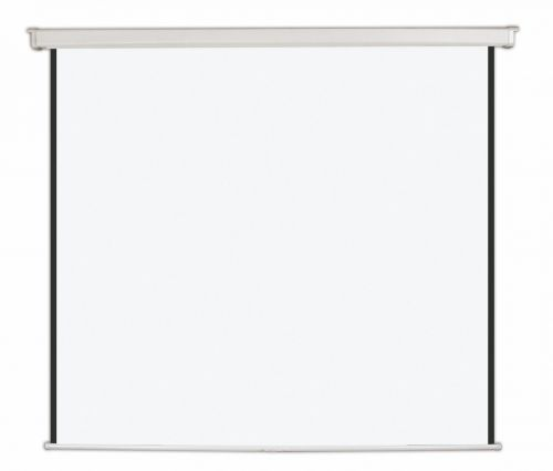 Bi-Office Wall Screen Black Border White Housing 178x178