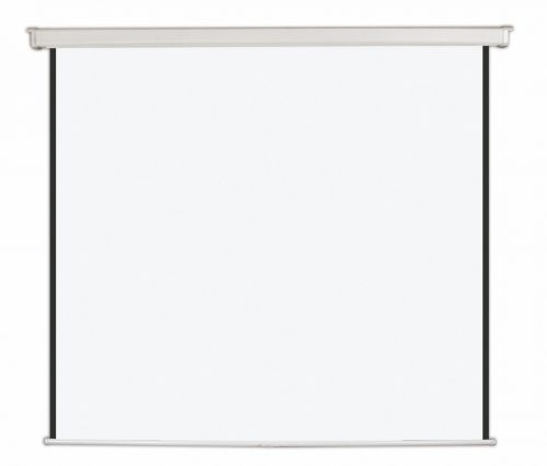 Bi-Office Wall Screen Black Border White Housing 244x244