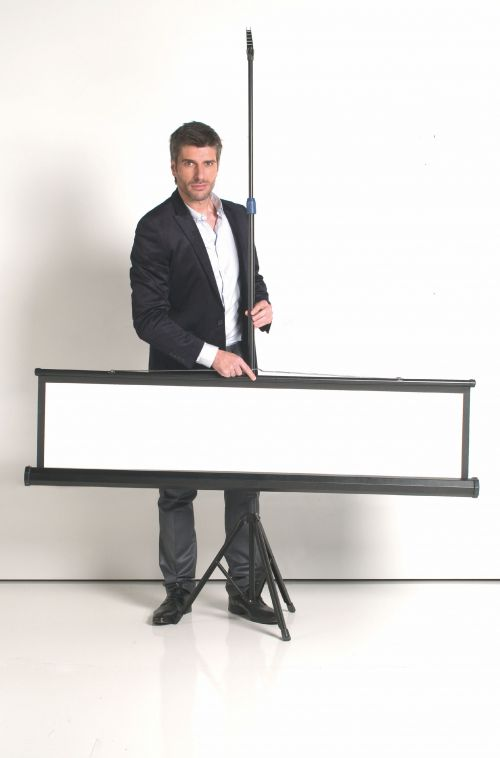 Bi-Office Tripod Screen 1500 x 1500 mm