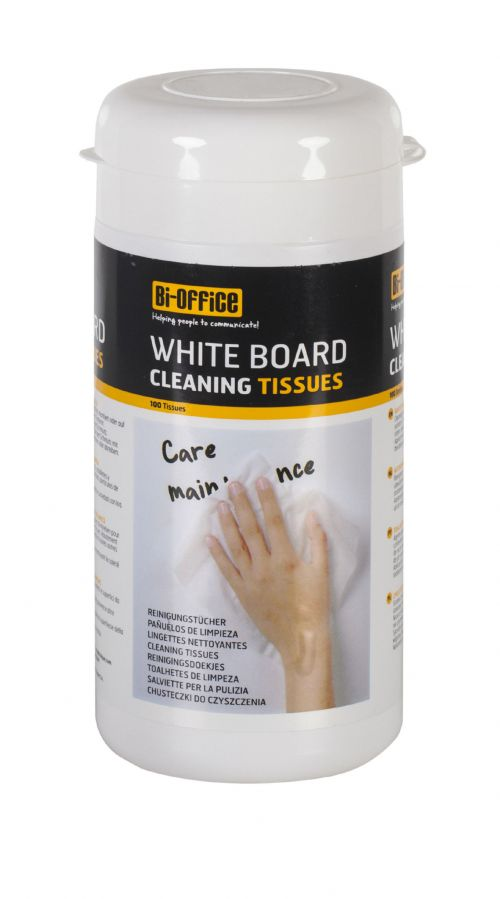Bi-Office Whiteboard Cleaning Tissues PK100