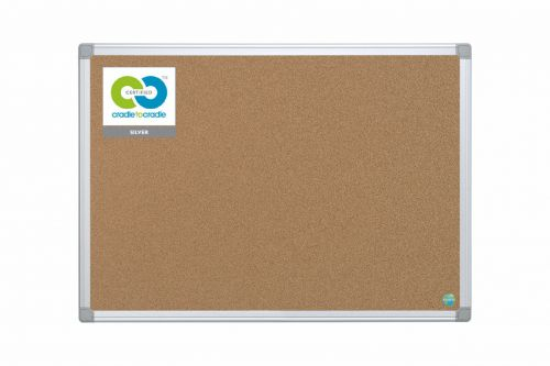 Bi-Office Earth-It Aluminium Frame Cork Noticeboard 1200x900mm CA051790