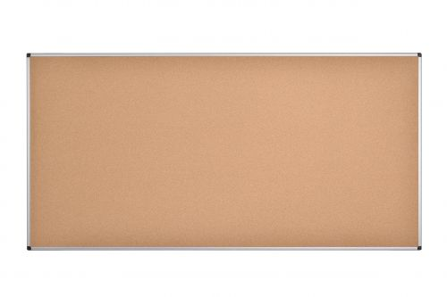 Bi-Office Maya Cork Notice Board Alu Frame 240x120cm