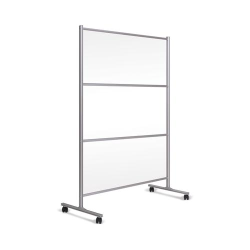 Bi-Office Mobile Stand W/ Glass Panel 1200x1500