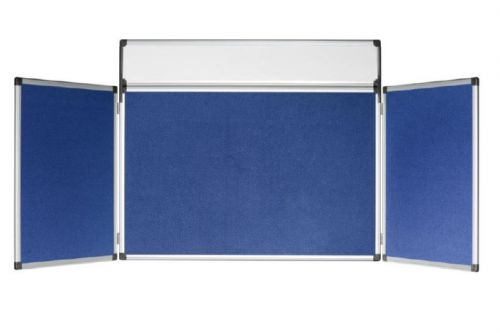 Bi-Office 4 Panel Gallery Exhibition System Blue