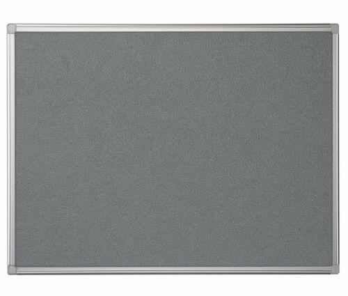 Bi-Office Maya Grey Felt Noticeboard Alu Frame 90x60cm