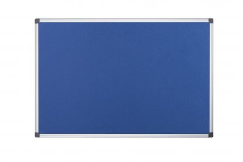 Bi-Office Maya Blue Felt Noticeboard Alu Frame 90x60cm