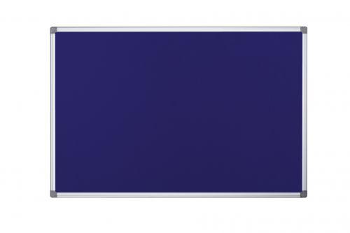 Bi Office Blue Felt Notice Board 2 Sided 900 x 600mm