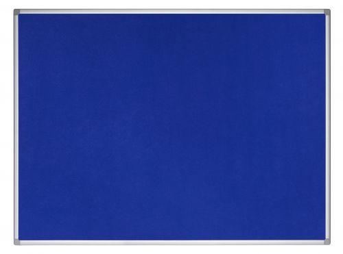 Bi-Office Earth-It Blue Felt Noticeboard Aluminium Frame 900x600mm