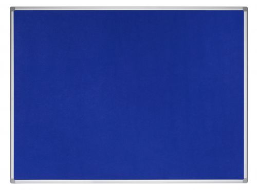 Bi-Office Earth-It Blue Felt Noticeboard Alu Frme 120x90