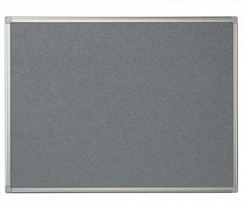 Bi-Office Maya Grey Felt Ntcbrd Alu Frame 120x120cm