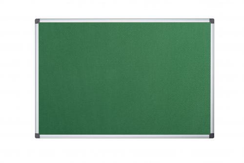 Bi-Office Maya Green Felt Ntcbrd Alu Frame 120x120cm