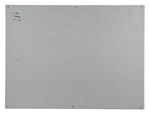 Bi-Office Unframed Grey Felt Notice Board 90x60cm