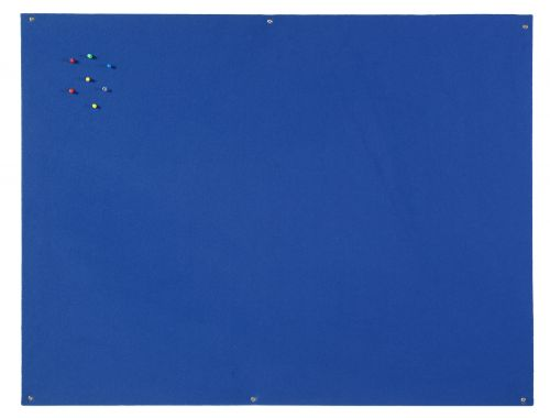Bi-Office Unframed Blue Felt Notice Board 90x60cm