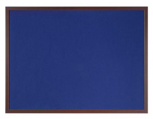 Bi-Office Earth-It Blue Felt 60x90cm cherry wd 32 mm frm
