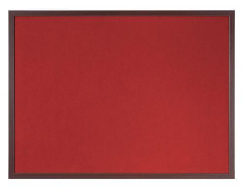 Bi-Office Earth-It Red Felt 60x90cm Cherry Wood 32 mm