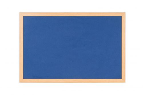 Bi-Office Earth Felt Notice Board 1200x900mm Blue RFB1443233