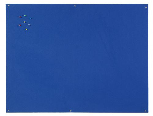 Bi-Office Unframed Blue Felt Notice Board 120x90cm