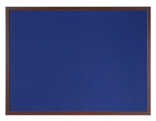 Bi-Office Earth-It Blue Felt 180x120cm Cherry Wood 32 mm
