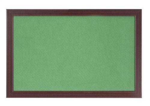 Bi-Office Earth-It Green Felt 180x120cm Cherry Wood 32 mm
