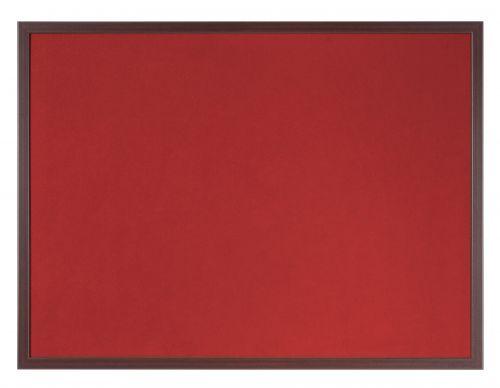 Bi-Office Earth-It Red Felt 180x120cm Cherry Wood 32 mm