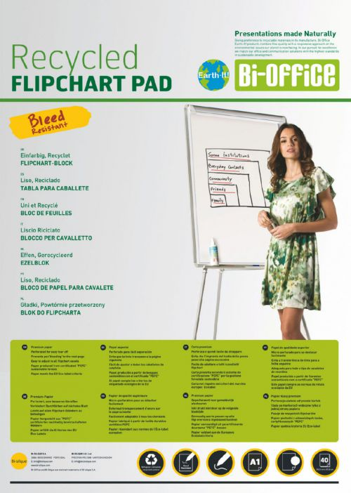 Bi-Office A1 Plain 40 Sheet Flip Pad Pk5