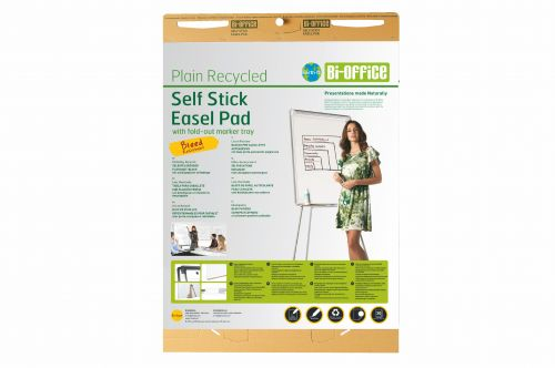 Bi-Office Earth-It Plain Recycling Self Stick Pad