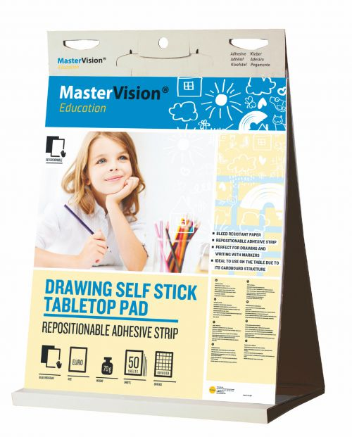 MasterVision Education Drawing Table Top Pad with 20 Sheets