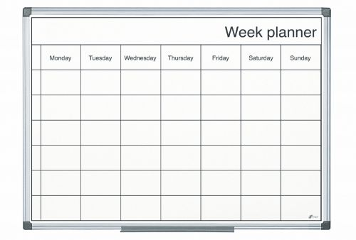 Bi-Office Magnetic Black and White Week Planner 60x40cm