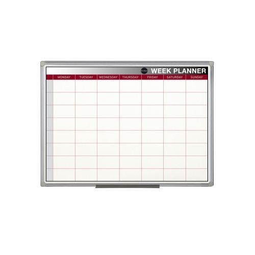 Bi Office Magnetic Weekly Planner 60x45cm