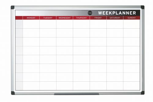 Bi-Office Magnetic Week Planner 900x600 mm