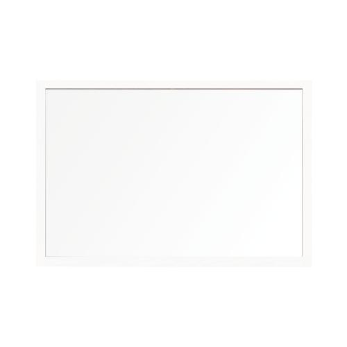 Bi-Office Protector Glass Board W/Clamps Wh Frm 900x600
