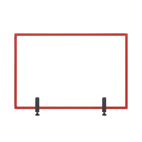 Bi-Office Protector Board W/Clamps Red Alu Frm 900x600