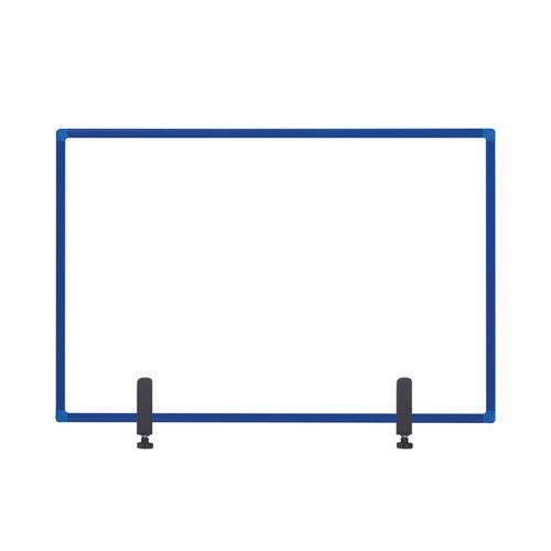 Bi-Office Protector Board W/Clamps Blue Alu Frm900x600