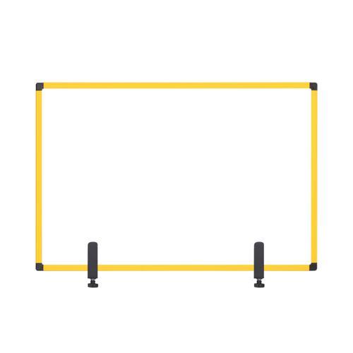 Bi-Office Protector Board W/Clamps Yellow Alu Frm 900x600