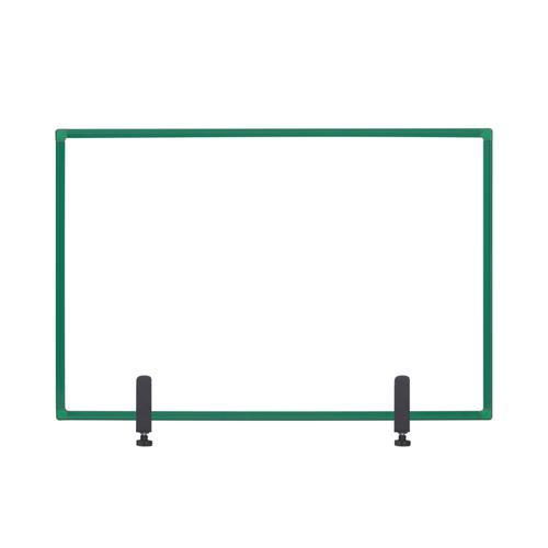Bi-Office Protector Board W/Clamps Green Alu Frm 900x600