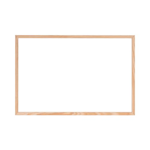 Bi-Office Protector Glass Board W/Clamps Wood Frm900x600