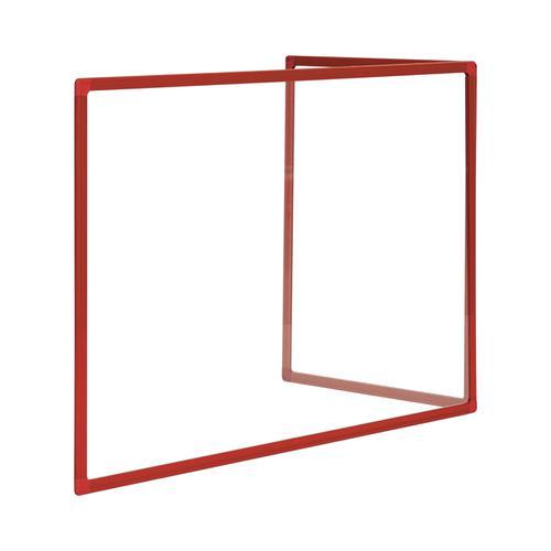 Bi-Office Duo Glass Board 600mm  900x600Red Alu Frm