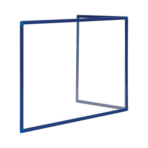 Bi-Office Duo Glass Board 600mm  900x600 Bl Alu Frm
